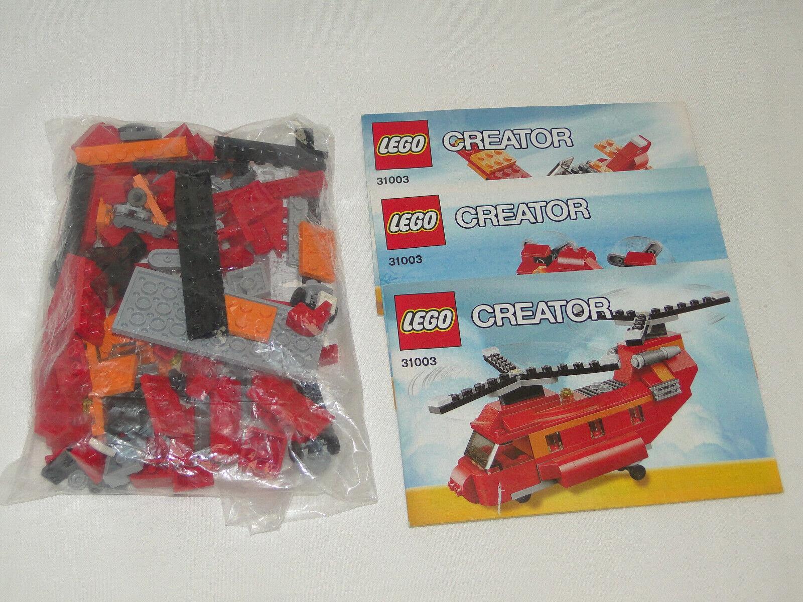 Lego Creator Creator Creator 31003 helicópteros 3-in-1 completo con Oba 9ad5f5