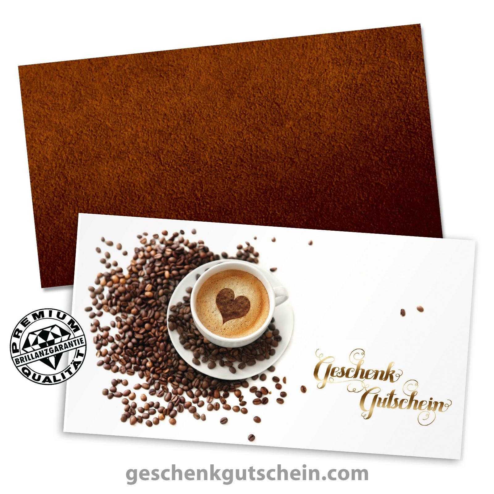 Gutscheinkarten mit KuGrün für Kaffeehäuser Cafés Konditoreien Gastro G12011