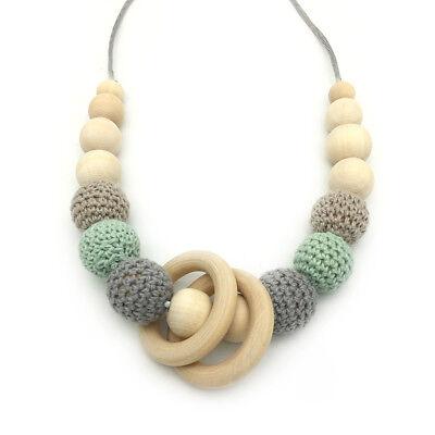 Hexagon Silicone Teething Beads Necklace Sensory Baby Teeth Care Jewelry Teether