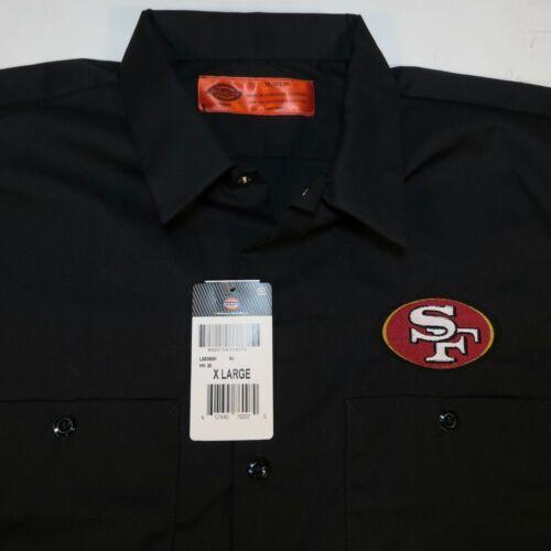 NEW NWT DICKIES SF SAN FRANCISCO 49ers NFL FOOTBALL Embroidered WORK SHIRT Sz XL