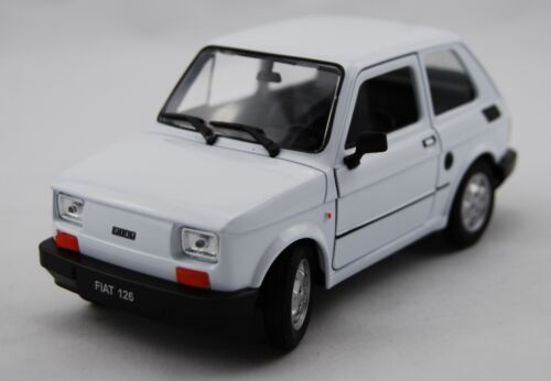 WELLY FIAT 126P WHITE 1:21 POLISH CLASSICS DIE CAST METAL MODEL NEW MALUCH