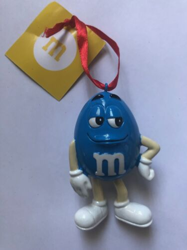 M/&M/'s World Blue Character Resin Christmas Ornament New with Tag
