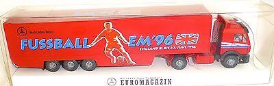 Em'96 Mb Trasporto Euro Rivista Camion Pubblicitari Modello Wiking H0 1:87 Ovp # å-mostra Il Titolo Originale