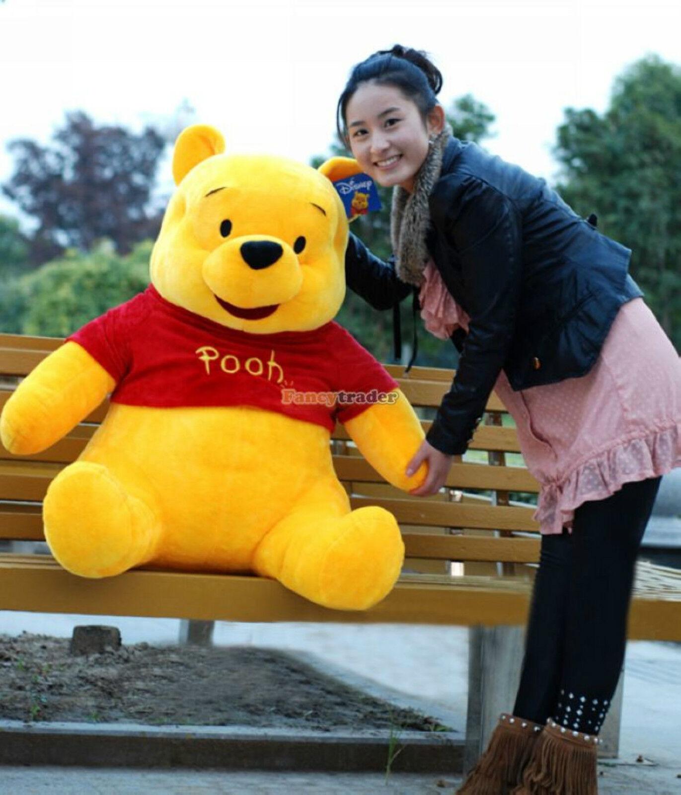 40  100cm GIANT big Plush Stuffed Winnie Bear LARGE HUGE Xmas gift Free Shipping