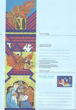 GB Stamps Aerogram / Air Letter APS48 - 14 1/2p Nativity, Angels Christmas 1980