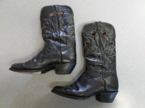 The Sanders Boot Makers black leather cowboy boots