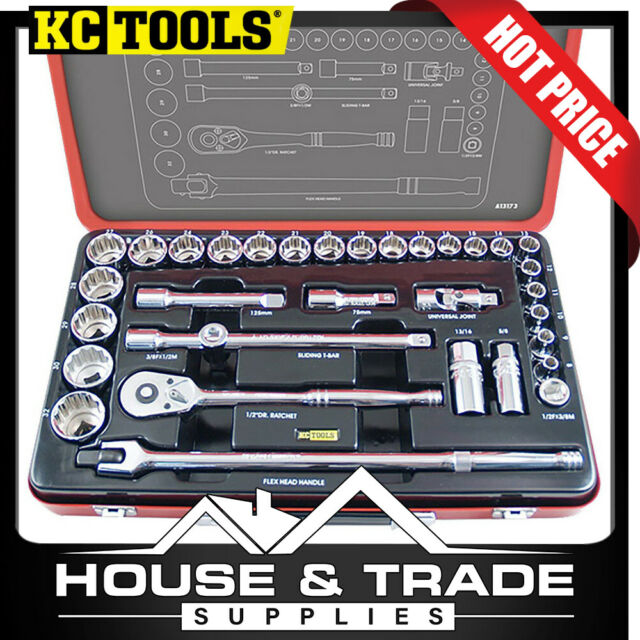 KC Tools Socket Set 33 Piece 1/2' DR METRIC A13173