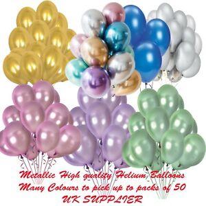 Helium-Metalique-Style-Latex-Brillant-Chrome-Couleurs-Vives-Ballons-5-10-20