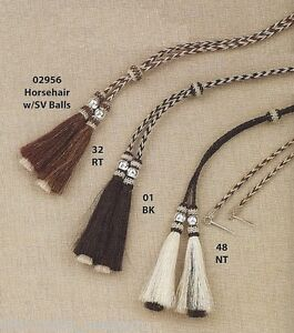 Horsehair & Silver ~STAMPEDE STRING~ Western Cowboy Hat - Cotter Pin - Tails