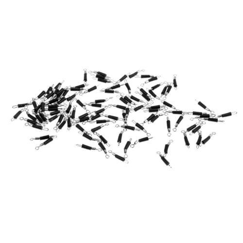 100 stücke Angelschnur Stecker Ringe Zubehör Werkzeuge Outdoor Sports 3