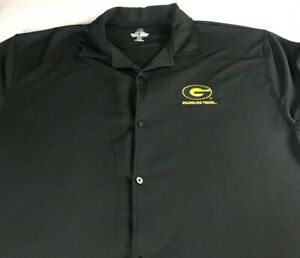 Grambling-State-Tigers-Shirt-Mens-2XL-Tall-Long-Dri-Fit-Button-Up-Down-Alumni