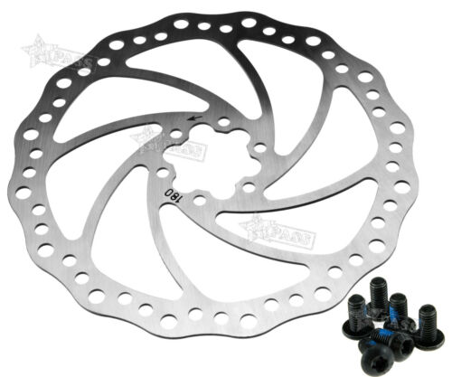 Mechanical Disc Brake MTB Cycling Bicycle Front Rear 180mm Rotor Set/&6 Bolts