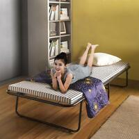 Portable Single Folding Guest Bed Cot With Mattress & Cover Metal Frame N4g2