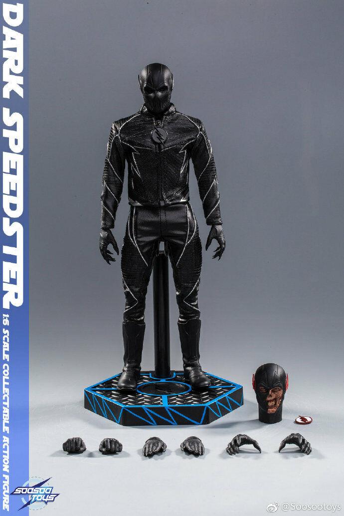 1 6th soosooJuguetes SST010 oscuro Speedster Negro Flash Acción Figura Coleccionable