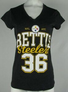923ca8623a8 Image is loading Pittsburgh-Steelers-36-Jerome-Bettis-Women-Short-Sleeve-