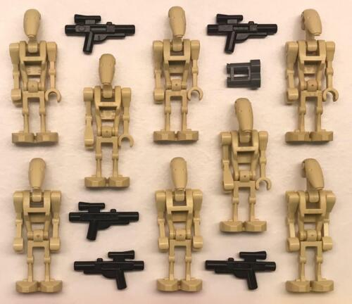 army blasters tan clone war 8 Lego Battle Droids Minifig Lot Star Wars Figures