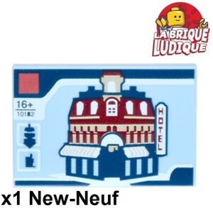 Lego-1x-Tile-decorated-2x3-Cafe-Corner-coin-hotel-10182-10255-26603pb001-NEUF