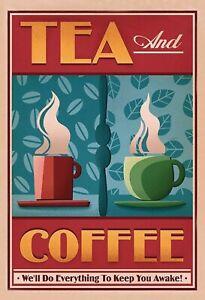 The-And-Coffee-Keep-You-Exterieur-Panneau-Metallique-Plaque-Signe-en-Etain-Metal