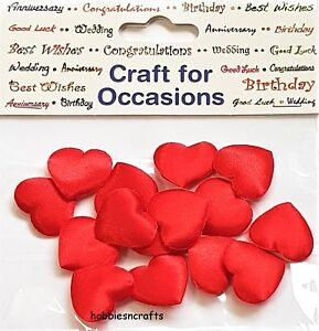 CRAFTS-FOR-OCCASIONS-2-CM-PADDED-FABRIC-SATIN-RED-HEARTS-PACK-OF-15