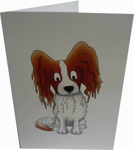 Papillon 10 notecards red notecards