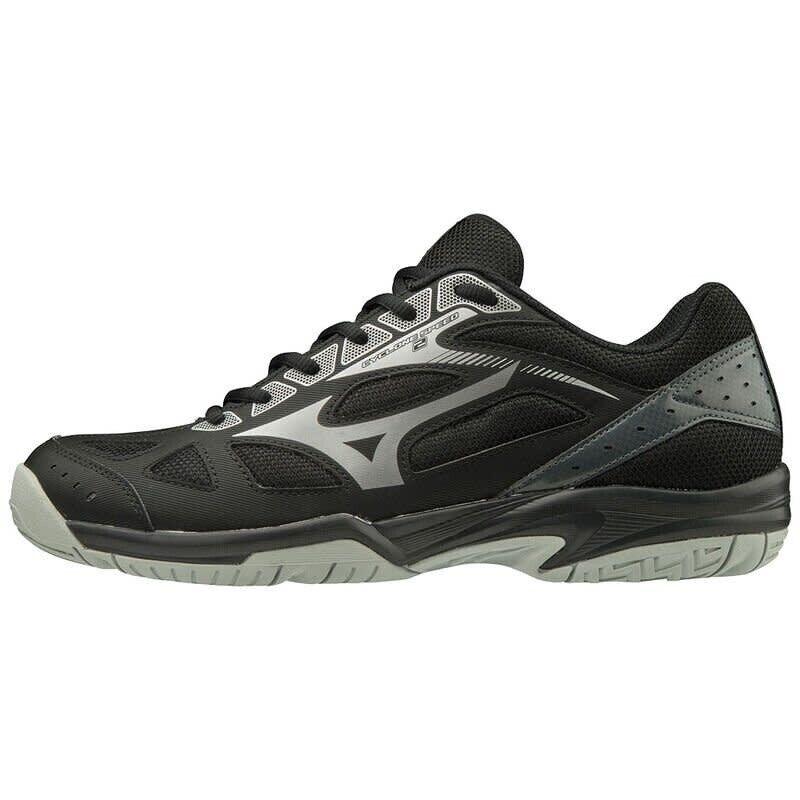 Mizuno Cyclone Speed 2 Black Silver Volleyball Squash Indoor Court Shoe Trainers