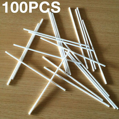 100pcs Lollipop Lolly Candy Pop Sucker Sticks Chocolate Cake Cookie Making Mould