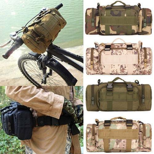 UK Hiking Military Tactical Messenger Shoulder Bag Waist Pouch Pack Camping Bags