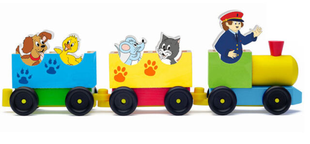 Mehrfarbig Hape International Woody Woodyland/_102190658 Zug mit Tieren