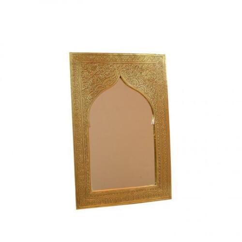 """Orientalischer Marokkanischer Handgefertigter Messing Spiegel /""""Khalil/"""" 26x17,5"""