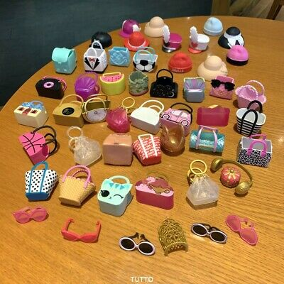 Lot 40 NEW AUTHENTIC LOL  Surprise Doll Lil Sister bag cap accessory toy random