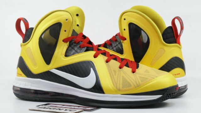 timeless design 0b84d ef0cf NIKE LEBRON 9 PS ELITE USED SIZE 13 TAXI MAIZE WHITE BLACK SPORT RED 516958  700