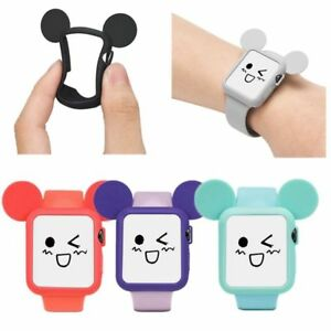Mickey-Mouses-Ear-Silicone-Bumper-Protective-Case-for-Apple-Watch-and-Watch-Band