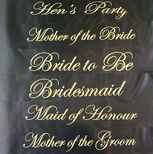 HENS-NIGHT-BRIDAL-PARTY-SASH-BRIDE-BRIDESMAID-MAID-OF-HONOUR-SASHES-BLACK-GOLD