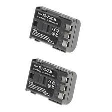 2 X NB-2LH Battery for Canon EOS 400D, 350D, G9, G7, S80, S70, Rebel XTi 1800mAh