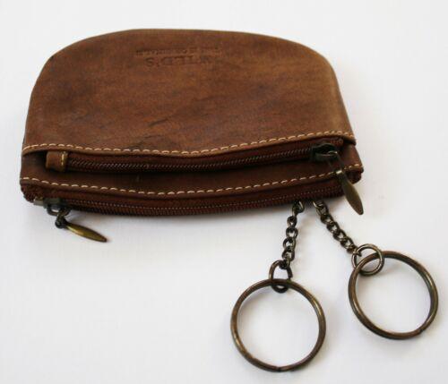 Leder Schlüsseltasche Wild´s Schlüsseletui m 2 Ringen Schlüsselmäppchen Cognac