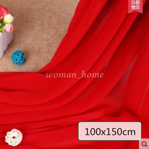 Georgette Chiffon Plain DIY Fabric Handwork Sewing Decor Dress Wedding Material