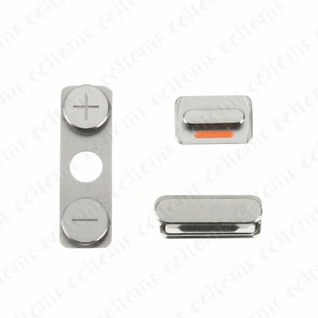 Side Button Power Button Mute Switch Key On/off Volume Key Set for iPhone 4 4G