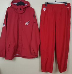 Nike Arizona Cardinals Storm-fit Suit Jacket Pants Red Nfl Rare New 3xl 2xl