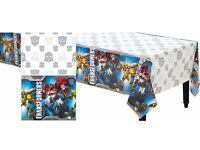 Transformers Plastic Table Cover-optimus Prime Birthday Decoration Party Supply