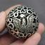thumbnail 5 - Old Chinese Tibetan silver Dragons and phoenixes Handball Round ball
