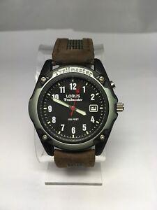 Men-039-s-LORUS-Trailmaster-Watch-Lumibrite-Date-WR-30M-LR0264-New-Battery