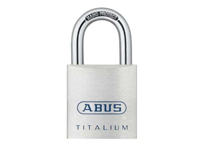 Abus ABU80TI Titalium Padlock. Use in areas with high risk of theft