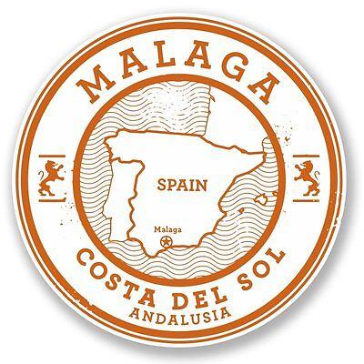 2 x Marbella Malaga Spain Vinyl Sticker Laptop Travel Luggage Car #6332