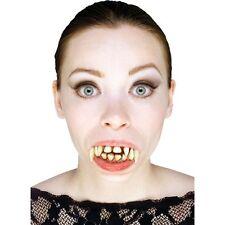 DENTI da vampiro Adulto con Stay Put-Costume di Halloween Spaventoso Accessori Dracula