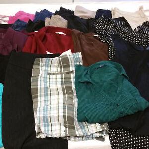 Womens-Sz-18-Plus-Clothes-Lot-24-Piece-Mixed-Dresses-Pants-Blouses-Tops-Capris