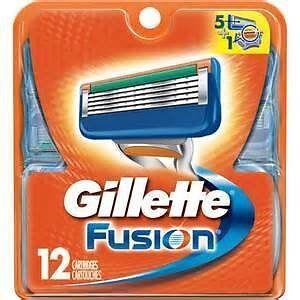 Gillette Fusion Manual Men/'s Razor Blade Refills 12 Count