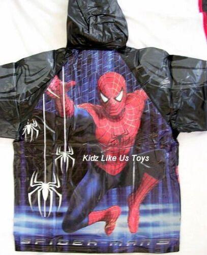GENUINE LICENSED BOYS CHILD KIDS RAIN COAT RAINCOAT JACKET Sz2-3 ~ Spiderman 3