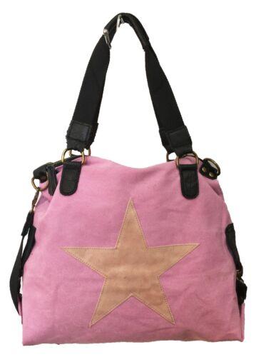 Cuero Lona Mujer Bolso Compras Estrella De Fashion nYU7x