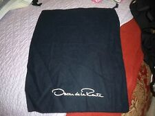 New Designer Sleeper/ Dust Bag Oscar de la Renta Navy Cotton with White Logo