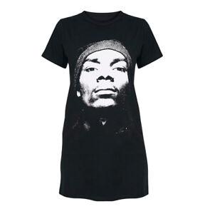 e93c740b0e1 Official Ladies Rap T Shirt Black SNOOP DOGG Casual Dress  Face  All ...